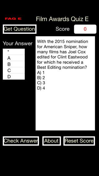 Film Awards Quiz E