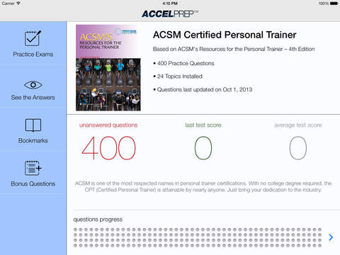 ACSM CPT Study Guide Flashcards | Quizlet
