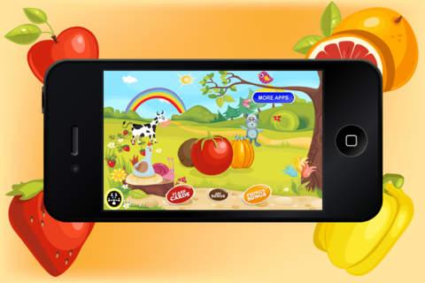 Baby Flash Cards ABC Fruits - Learning game for Kids in Preschool, K12 & Kindergarten screenshot 1