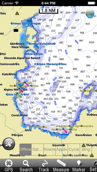 Marine: Aegean Sea South - GPS Map Navigator