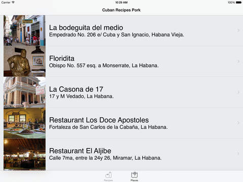 Cuban Recipes - Pork - HD iPad Screenshot 3