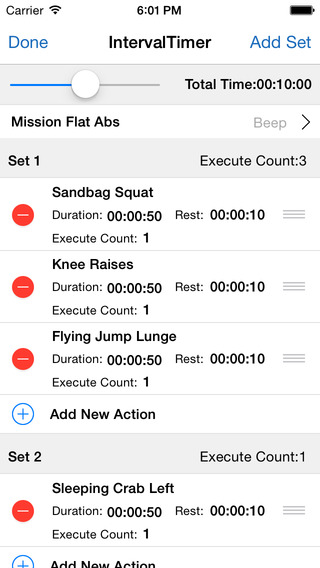Flexible Interval Timer for Training Workouts