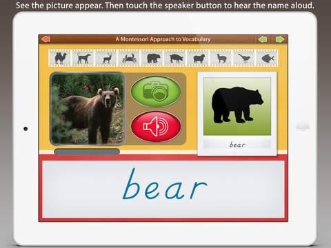 Montessori Approach To Vocabulary HD - Animals iPad Screenshot 4