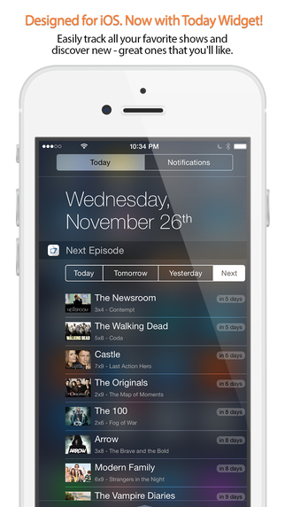 Next Episode - Track the TV Shows You Watch