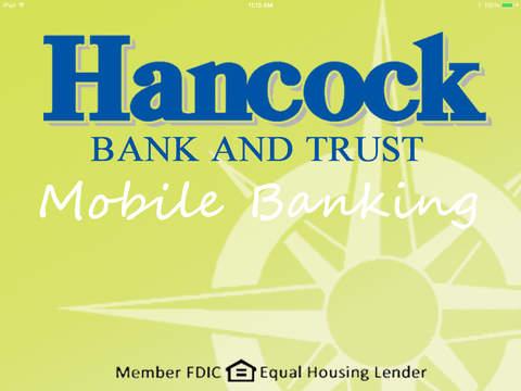 Hancock Bank Trust Company for iPad