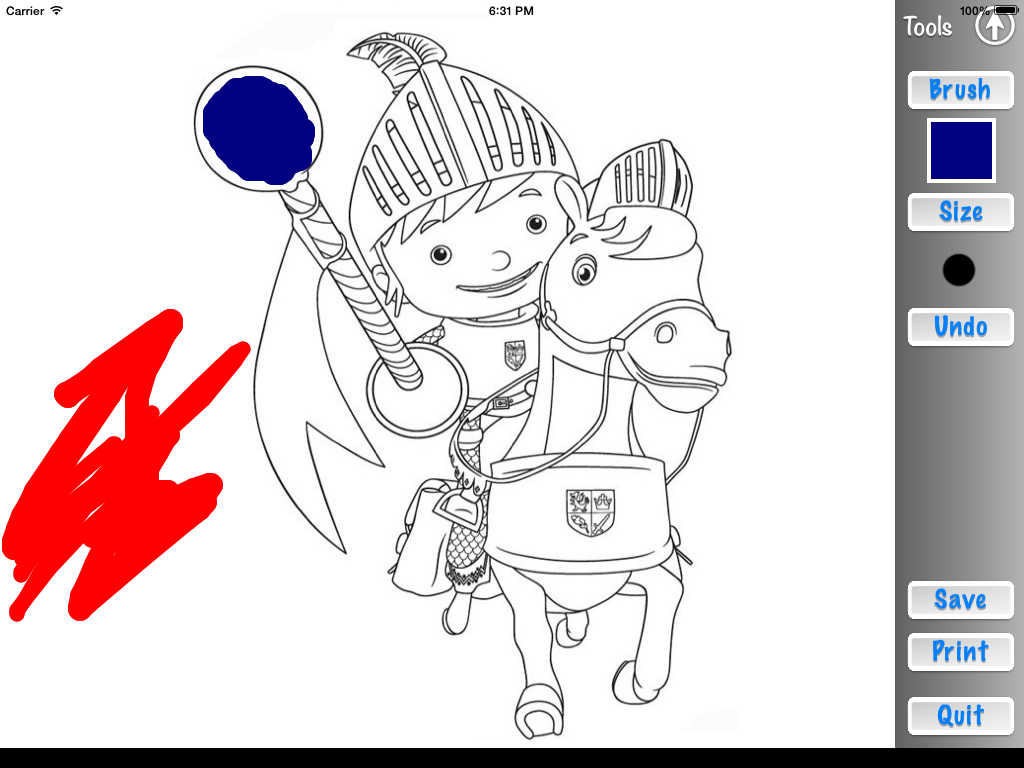 App Shopper Color Book For Mike The Knight Unofficial