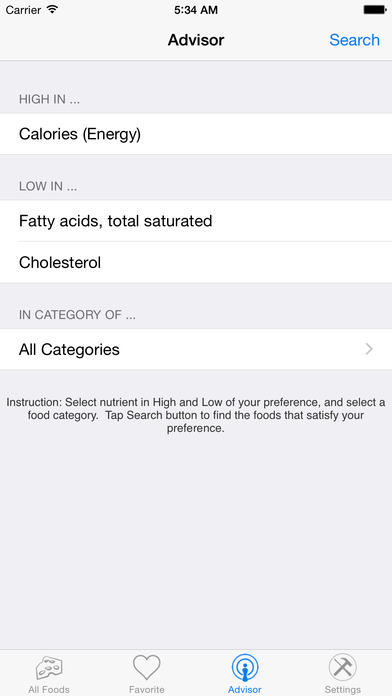 Nutrition Complete iPhone Screenshot 3