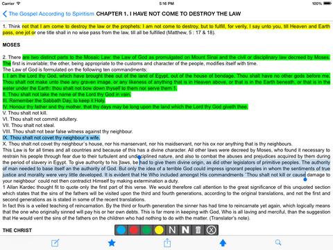 The Gospel According to Spiritism (Kardec) iPad Screenshot 2