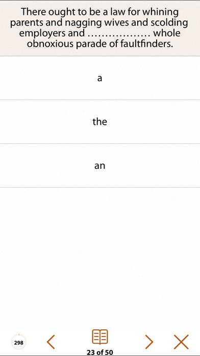 Grammar Express: Articles iPhone Screenshot 3