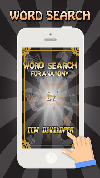 """Word Search for ANATOMY - """" Super Classic Wordsearch Puzzle Games """""""