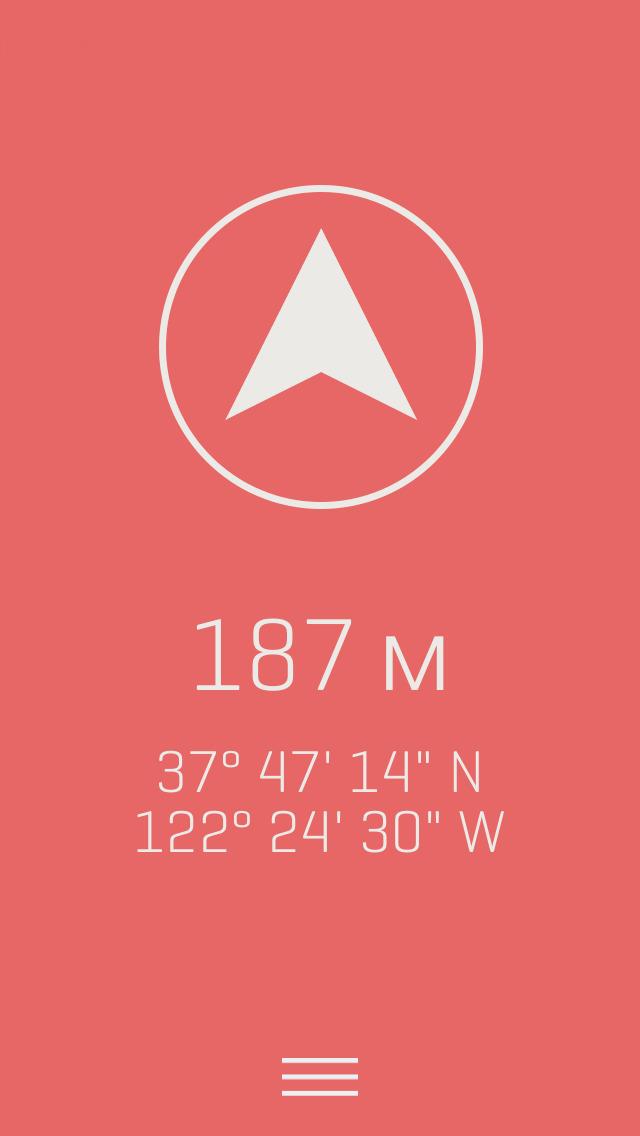 Alti - Минималистский Путешествия альтиметр и компас Скриншоты3