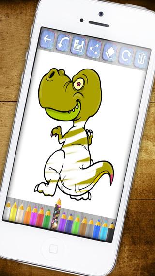Paint magic dinosaurs – coloring drawings - Premium