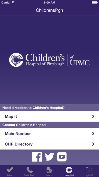 ChildrensPgh iPhone Screenshot 5