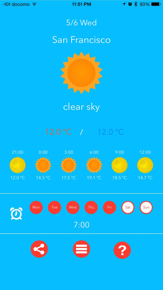 AlarmWeather 〜Weather forecast and alarm in one app 〜