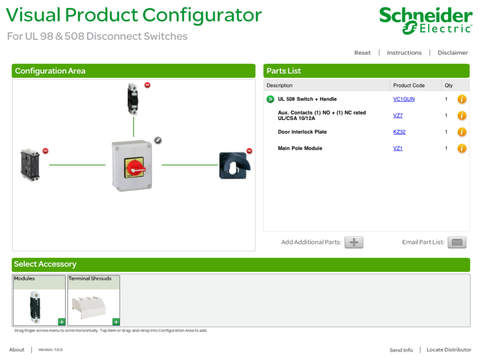 Disconnect Switch Visual Product Configurator
