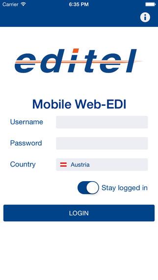 EDITEL Mobile Web-EDI