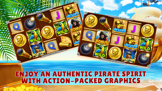 Slots Pirates Treasure - Free Slot Machine Game