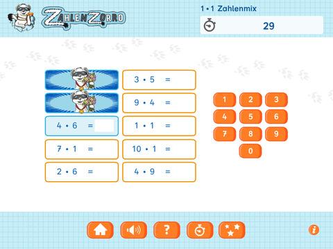Zahlenzorro Einmaleins Screenshots