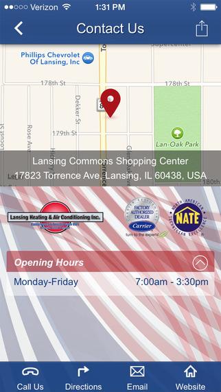 玩生產應用App|Lansing Heating & Air Conditioning Inc.免費|APP試玩