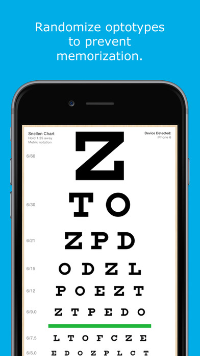 Eye Chart HD iPhone Screenshot 3