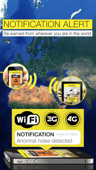 Surveillance App : Turn your device into a video surveillance system 3G 4G WiFi