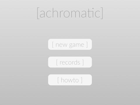 Achromatic Game