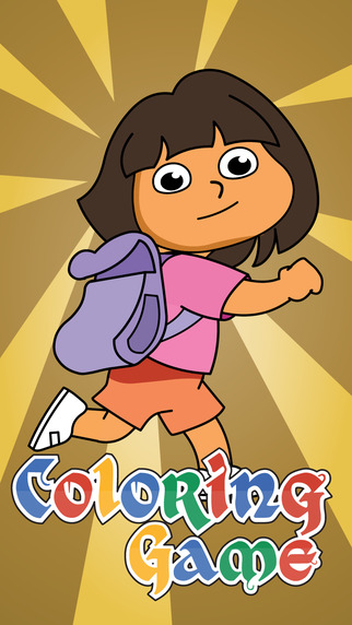 Coloring Book for Friends - Paint Dora Edition