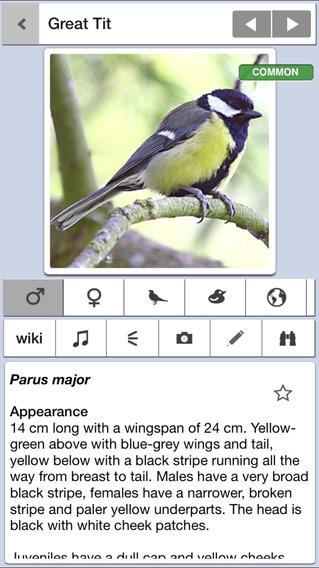 Bird Guide Mini: A Guide to 20 British Birds iPhone Screenshot 1