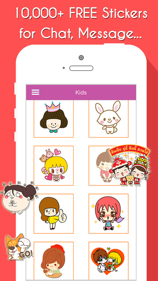 Stickers Free for Chat Icon Sticker for messages Line Wechat WhatsApp Zalo Viber