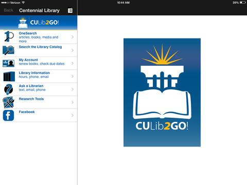 CULib2Go! iPad Screenshot 1