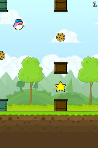 Screenshot 2 Cookie Bird in Flappy City FREE - Cute Flying Games For Kids