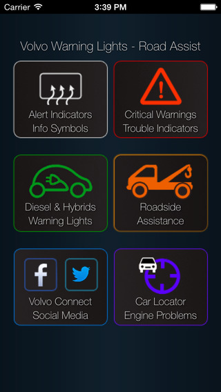 App for Volvo Cars - Volvo Warning Lights Road Assistance - Car Locator