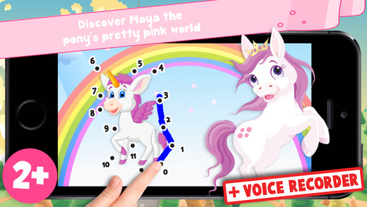 Free Kids Ponies Puzzle Teach me Tracing Counting - Learn about pink ponies cute fairies and princes
