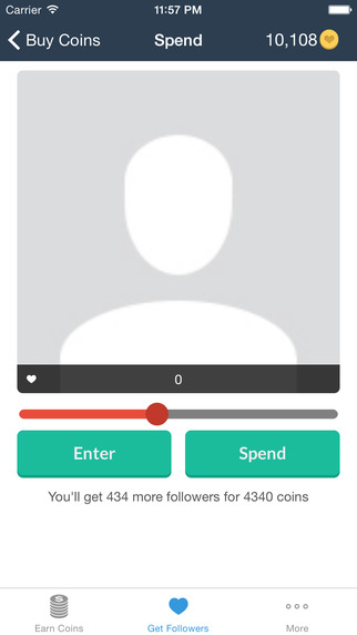 InstaFamous Followers Screenshots