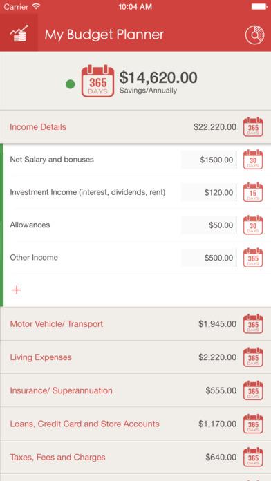 My Budget Planner iPhone Screenshot 2