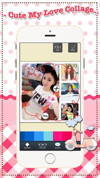 玩免費娛樂APP|下載Cute My Love Collage app不用錢|硬是要APP