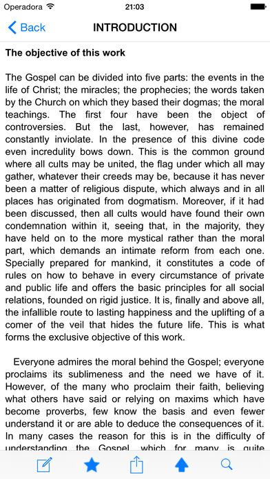 The Gospel According to Spiritism (Kardec) iPhone Screenshot 2