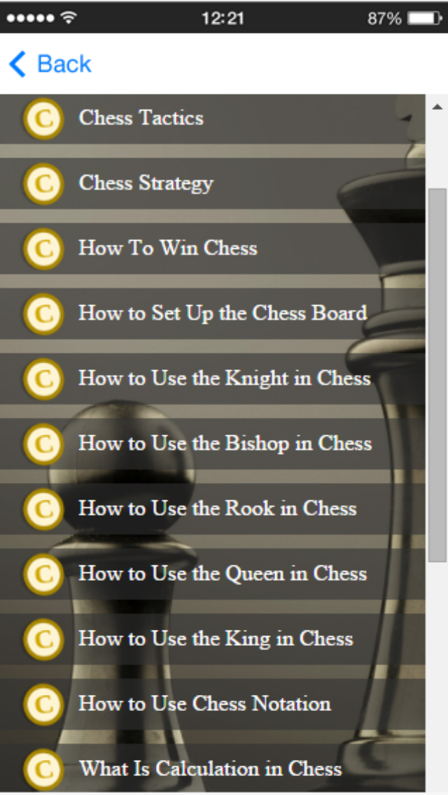 Chess Tactics - Learn The Winning Chess Strategy Скриншоты4
