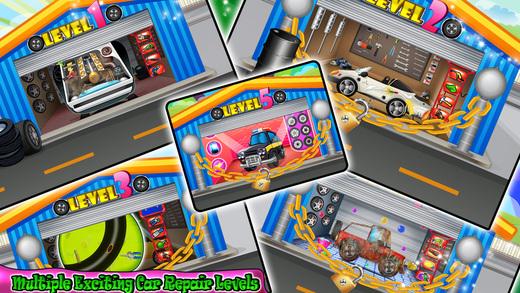 Детский ремонт авто гараж - дизайн, художественное оформление и исправить автомобили в этой игре механика Screenshot