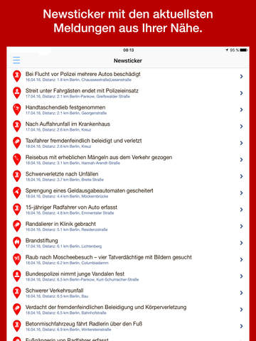 Verbrechen - echte Polizeifälle aus Deiner Umgebung Screenshots