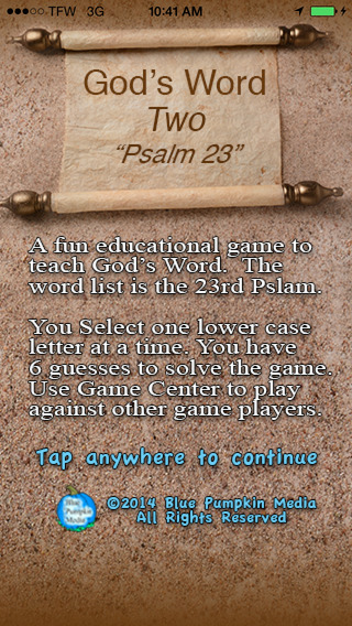 God's Word 2 Psalm 23 Word Challenge