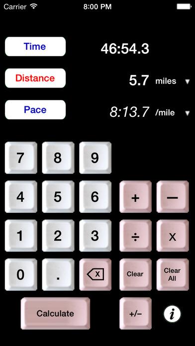 The Athlete's Calculator iPhone Screenshot 1