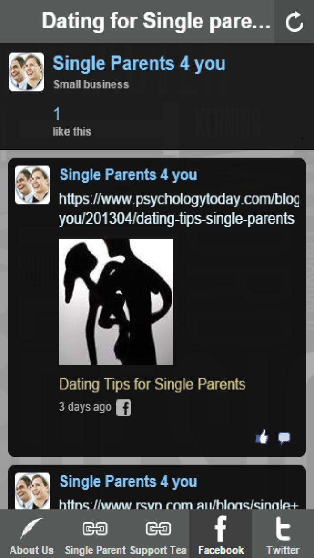 free single parents dating websites I have a close family friend whose parents divorced when she was young, and it was a tough experience for everyone to go through their world was turned upside down as she went from a full household to living with just her mom and seeing her dad a couple of times a week.