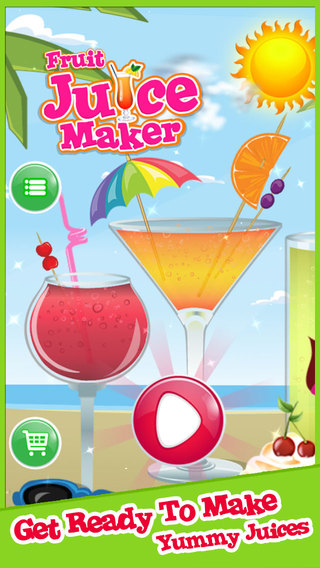 Fruit Juice Maker - Make Sweet Juices and Decorate Healthy Drinks Shakes