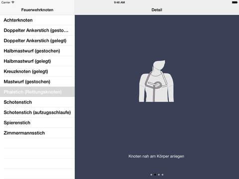 Feuerwehrknoten iPad Screenshot 1