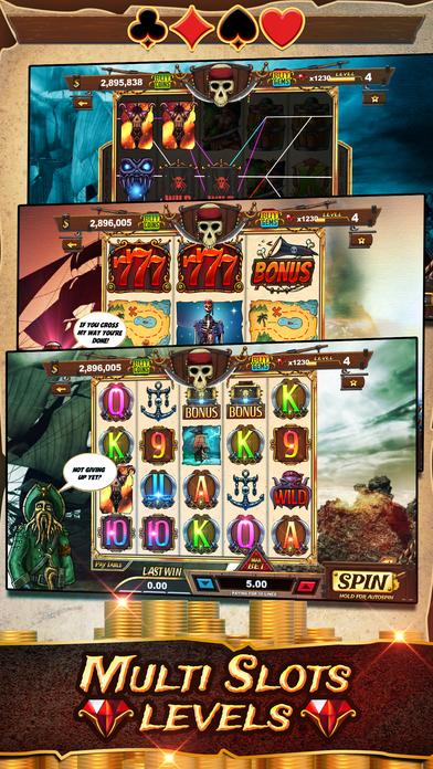 Screenshot 2 Пираты Грудь Слоты — Пират Бей Издание