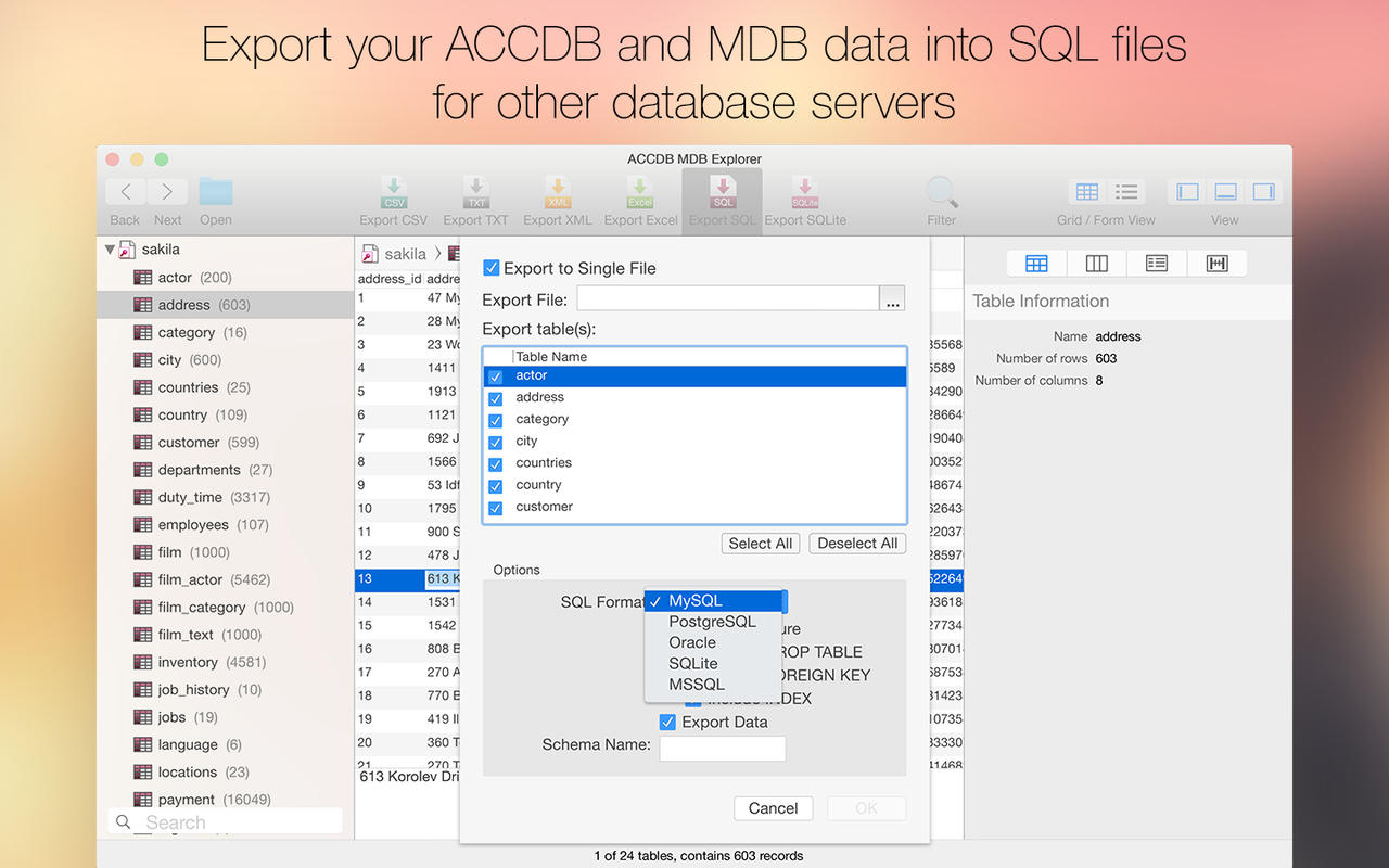 how to create checksheet on ipad that exports to database