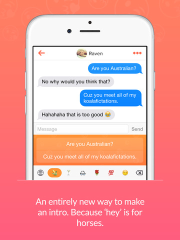 Flirty - Keyboard for Tinder screenshot