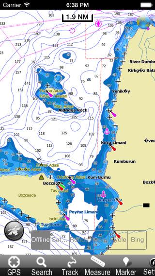 Marine: Aegean Sea North - GPS Map Navigator
