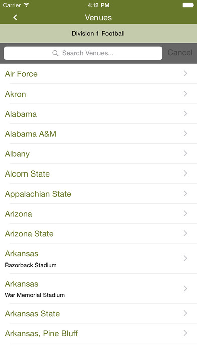 Football rVenues iPhone Screenshot 3